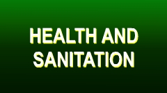 Health and Sanitation Actions Button